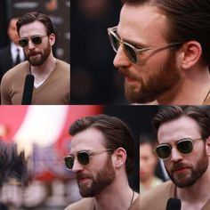 Chris Evans at Beijing premiere of Captain America: The Winter Soldier. OHHHHH him and his glasses