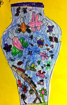 Art: Expression of Imagination: Creature Collection by Kindergarten