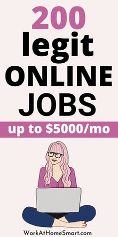 Looking for the best work from home jobs to make money online? Great! Here's a massive list of more than 200 companies with legit online jobs. Legit Work From Home, Legitimate Work From Home, Work From Home Jobs, Customer Service Jobs, Legit Online Jobs, Job Website, Virtual Assistant Jobs, Work From Home Companies, Craft Online