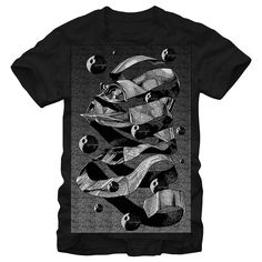 MC Vader Head T Shirt | A hand drawn image of Darth Vader along with images of the Death Star bring a unique and artistic feel to this soft hand Star Wars t-shirt. | Buy this and more at https://www.sunfrog.com/DarkHorse/starwars
