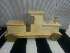 Beautifully crafted handmade wooden ride on trains that any toddler or preschooler will love forever. In natural timber or painted colours. High quality finish, can hold up to 30kgs Can come assembled or in IKEA flat-pack styles.