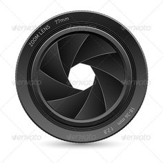 Camera lens — Vector EPS #camera #front • Available here → https://graphicriver.net/item/camera-lens/1239147?ref=pxcr