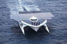 Solar-Powered Catamaran Makes 1st Circumnavigation