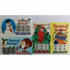 50 Holiday Themed Fake Lottery Tickets-awesome Stocking Stuffer by NOVELTIES WHOLESALE. $9.95. 50 tickets total. Realistic Looking. 4 designs. Our Holiday themed fake lottery tickets are the greatest stocking stuffer and gag gift on earth. Each one looks very realistic. Each one appears to win $20,000 dollar or more. The joke is revealed once the ticket is turned over and the very funny text is read by the victim. The Ultimate Stocking Stuffer, dont go through the holiday...