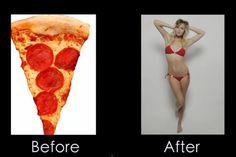 O poder do Photoshop: de pedaço de pizza a linda mullher | #EditorDeImagens, #Editoração, #Imagem, #Jmj, #Photoshop, #Realidade