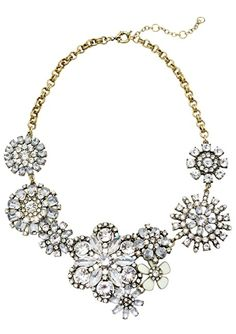 Vintage-inspired Flower Queen Statement Necklace