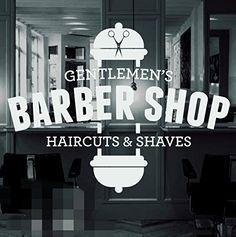 Amazon.com  BARBER SHOP - Vinyl Window Sticker, Decal, Hair Dressers  Home    Kitchen b6601337b3