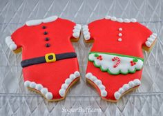 Sugar Buff : Santa Baby! Cookies using a onesie cookie cutter would be cute for a baby shower close to Christmas.