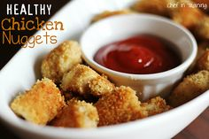 Be sure andjoin me on Facebookfor the latest updates on new recipes!I am always on the look out for new lunch foods for my toddler. She is a very picky eater and I would love to have her get the most nutrition possible. These HEALTHY Chicken Nuggets were a winner for
