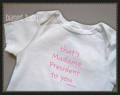 That's Madame Presid