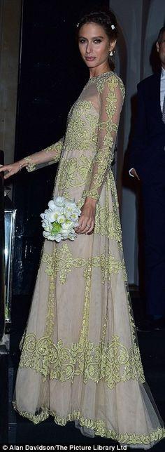 Jemima Jones looked elegant in her gown...
