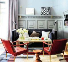 Red, White, Gray and Black are always a good choice! Full House Blog - Architectural Digest Spain