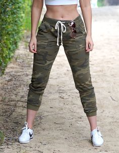 Shop Love Fitness Apparel for the latest fashion trends in women's workout clothing. Cute Lazy Outfits, Sporty Outfits, Cool Outfits, Military Pants Women, Pants For Women, Girls Joggers, Camo Joggers, Love Fitness Apparel, Fashion Fail