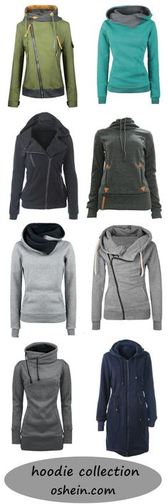 All trendy hooded sweatshirts&jackets are here. Click it to check at OSHEIN.COM!