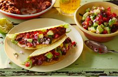 Red refried bean tacos | Tesco Real Food