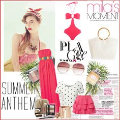 """Pinkish summer"" by noharahhal on Polyvore"