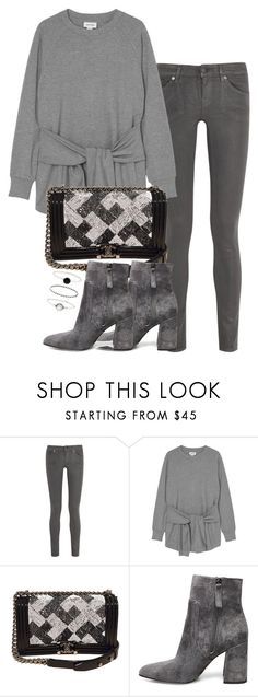 """Untitled #2553"" by theeuropeancloset on Polyvore featuring 7 For All Mankind, Monki, Chanel, Steve Madden and Accessorize"
