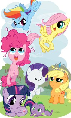 my little pony friendship is magic all pegasus ponys | My Little Fillies by thelivingmachine02