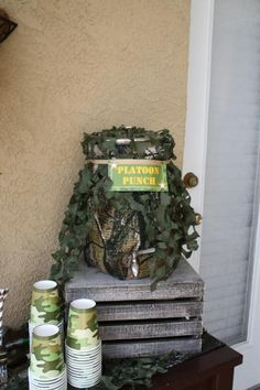 Hostess with the Mostess® - Angelo's Army Camouflage Birthday Party Camouflage Birthday Party, Army Themed Birthday, Army's Birthday, Birthday Cakes, Paintball Party, Nerf Party, Halo Birthday Parties, Birthday Party Themes, Birthday Ideas
