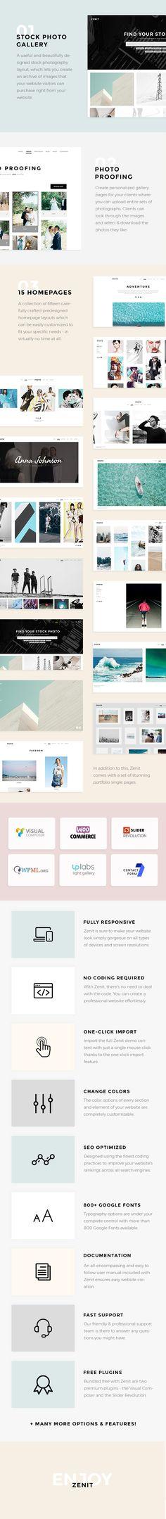 Zenit - A Crisp and Clean Photography Wordpress Theme #minimal #personal #photo