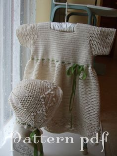 PDF Pattern  Crocheted Lace Party Dress or Christening by BabyDear, $5.50