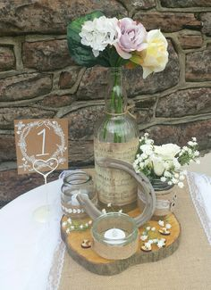 Rustic styled centre piece