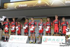2014 tour-de-france photos stage-04 BMC Racing team receive the team prize for the previous day's racing