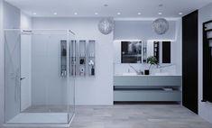 Interior Design Studio, Double Vanity, Bathroom Lighting, Bathtub, Mirror, Furniture, Home Decor, Nest Design, Bathroom Light Fittings