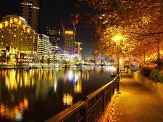 Southbank, Yarra River, and Flinders Walk, Melbourne, Victoria, Australia Landscapes Photographic Print - 61 x 46 cm