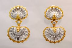 Mario Buccellati Diamond Gold Ear Clips image 6