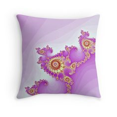 """Fractal spiral."" Throw Pillows by floraaplus | Redbubble"