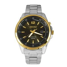Seiko Kinetic Men's Watch Grey Dial SKA596P1 SKA596P