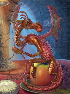 little Dragon by Vasylina Dragon Hatchling Egg Baby Babies Cute Funny Humor Fantasy Myth Mythical Mystical Legend Dragons Wings Sword Sorcery Magic Art Fairy Maiden Whimsy Whimsical Drache drago dragon Дракон drak dragão Types Of Dragons, Cute Dragons, Dragons Den, Big Dragon, Little Dragon, Dragon Images, Dragon Pictures, Magical Creatures, Fantasy Creatures