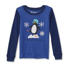 """Pajama Set Shirt Pants Boys' Long-Sleeve Winder Sleepware Fashion WonderKids """"Mommy's L'il Penguin"""" is all set for bedtime in these infant and toddler boys' pajama shirt and pants from WonderKids. Crafted from soft and breathable cotton knit, . Pajama Shirt, The Ordinary, Bedtime, Toddler Boys, Penguin, Infant, Pajamas, Graphic Sweatshirt, Knitting"""