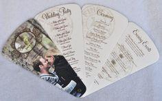 Fan Wedding Programs Custom Wine Theme Vineyard Photo by PunkyPosh, $3.00