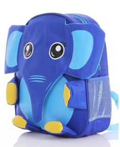 Hot Sale Cute Cartoon Baby Bag Children's Fashion Waterproof Cute Kids Lunch Backpack elephant  Animal Polyester Schoolbag