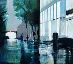 Kenneth Blom · disturbance II · 2011 · 170 x 190 cm Artist Painting, Figure Painting, Wilhelm Sasnal, Bay Area Figurative Movement, Art Academy, Art Portfolio, Oslo, Art Techniques, Contemporary Artists