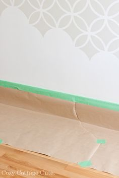 DIY Stenciled Wall