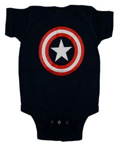 846af5682 Amazon.com: Captain America Logo Uniform Marvel Comics Baby Creeper Romper  Snapsuit: Clothing