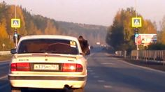 This driver will not be facing criminal charges for having a brown bear in the back of his car - because the animal was apparently wearing a seatbelt. The astonishing images were caught on camera in Yekaterinburg, Russia, earlier this month. Coincidentally, Moscow's Filatov Circus was in town at the time of the incident.