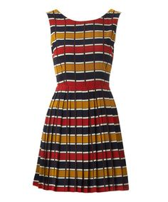 Take a look at this Red & Navy Brogan Dress by Louche on #zulily today!