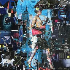 Collage Artwork: Collage Art by Derek Gores Collage Art Mixed Media, Collage Artwork, Magazine Collage, Magazine Art, Art Pop, Derek Gores, Pop Art Images, Collage Portrait, Muse Art