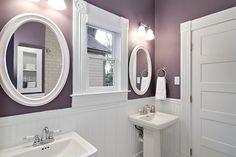Purple and White Bathroom Paint Color purplebathroom purple bathroom lavender bathroomideas decorhomeideas 495677502738496132 Plum Bathroom, White Bathroom Paint, Purple Bathrooms, Bathroom Paint Colors, Small Bathroom, Bathroom Ideas, Bath Ideas, Lavender Bathroom, Bathroom Taps