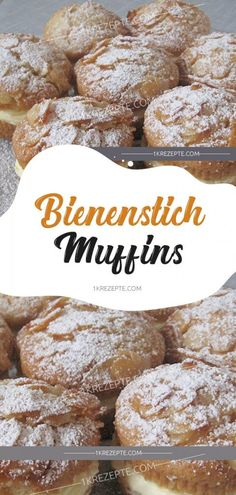 Bienenstich Muffins Tatlı tarifleri – The Most Practical and Easy Recipes Cookie Desserts, Cookie Recipes, Dessert Recipes, Dessert Bread, Pastry Recipes, Muffin Recipes, No Gluten Diet, Food Cakes, Bakery