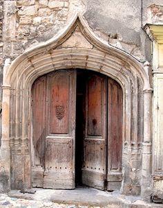 Doorway, Aubenas, Ardeche. - Aubenas - my daughter went to boarding school there ...