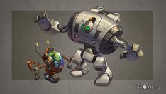 Giant Clank and Mini Qwark by *CreatureBox on deviantART