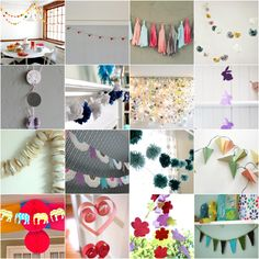 25 Free DIY Bunting & Garland tutorials - definitely planing on making a pennant garland for the nursery :)