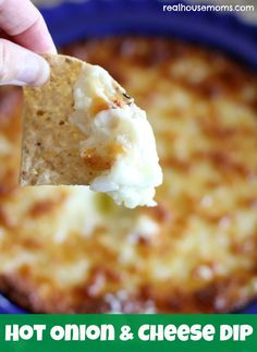 Hot Onion & Cheese Dip | Real Housemoms | Yummy appetizer that is quick and easy to make
