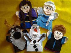 Frozen hand puppets
