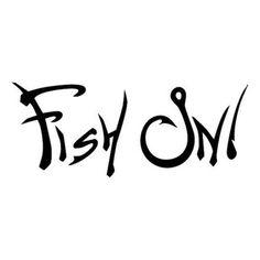 Fish On Die Cut Vinyl Decal PV596